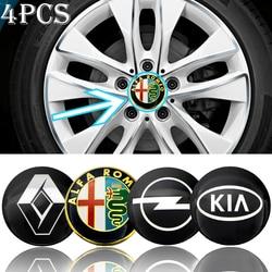 4 pçs 56mm logotipo do carro centro do cubo da roda adesivo para fiats 600 escala punto 500 talento 2019 estrada scudo qubo siena linea ducato