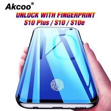 Akcoo S10 Plus Protector de pantalla con desbloqueo de huellas dactilares para Samsung Galaxy S10e 8 9 Plus Note 8 9 Guard Note 10 Plus película de vidrio