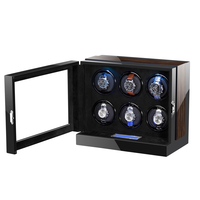 Automatic Watch Winder Box Case Holder Mechanical Watch Display Organizer Luxury Japanese Motor Shaker High Gloss PU Finish enlarge