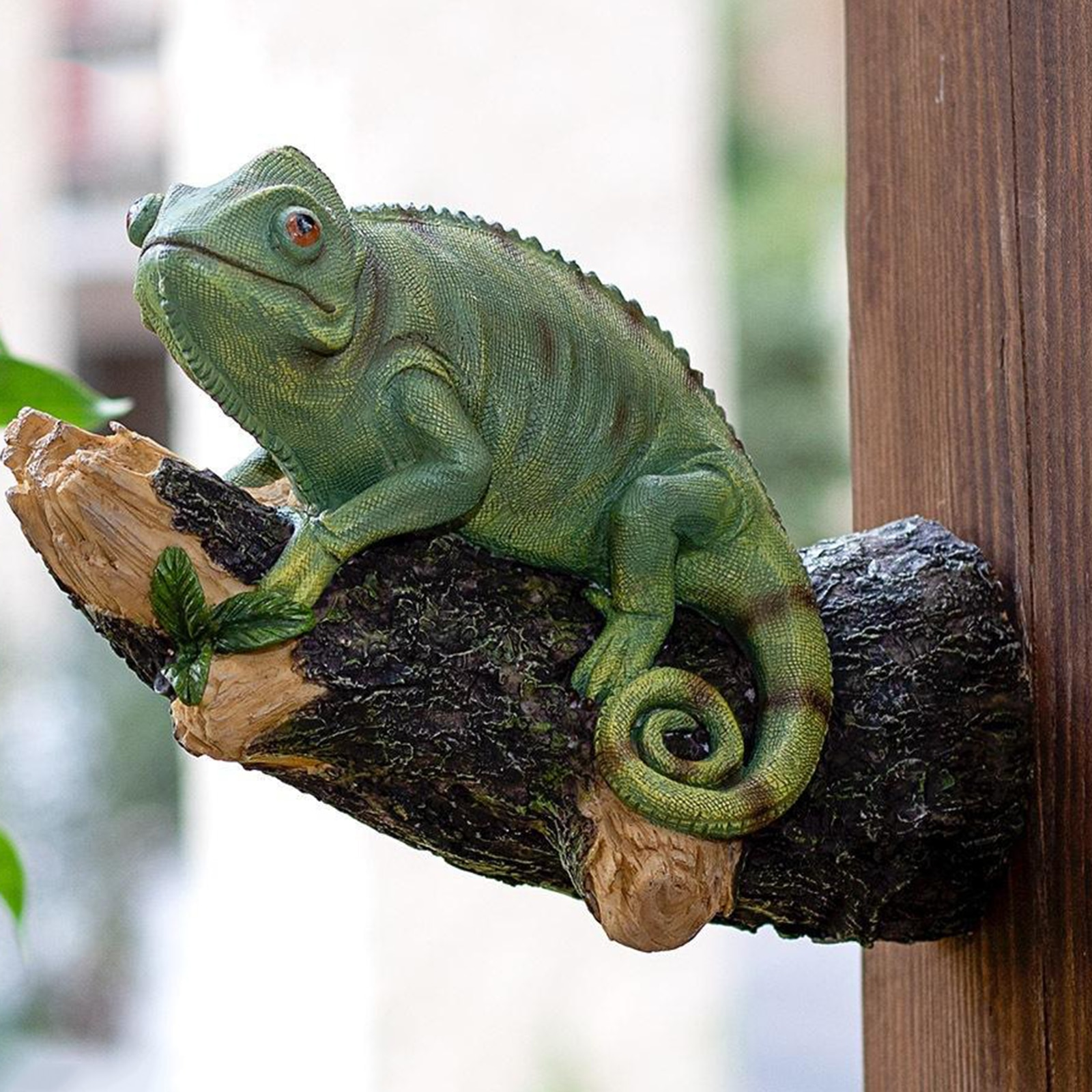 Статуэтка Хамелеона, скульптура ящерицы, украшение для офиса, сада, улицы, дерево
