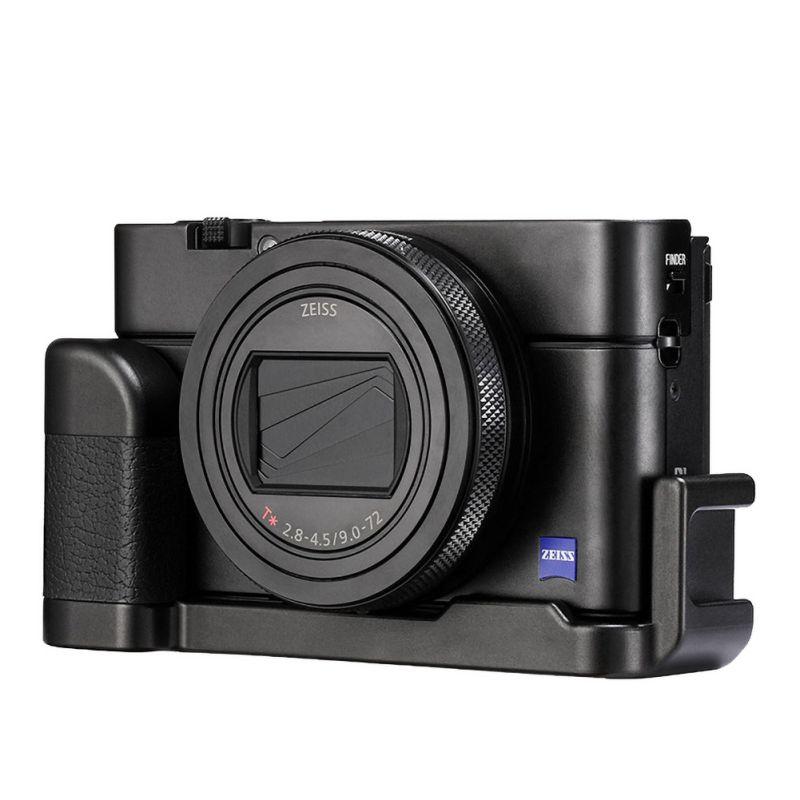 Base Universal 1/4 interfaz VLOG aleación de aluminio mango del micrófono portátil duradero agarre para SONY RX100 VII/M1-M6