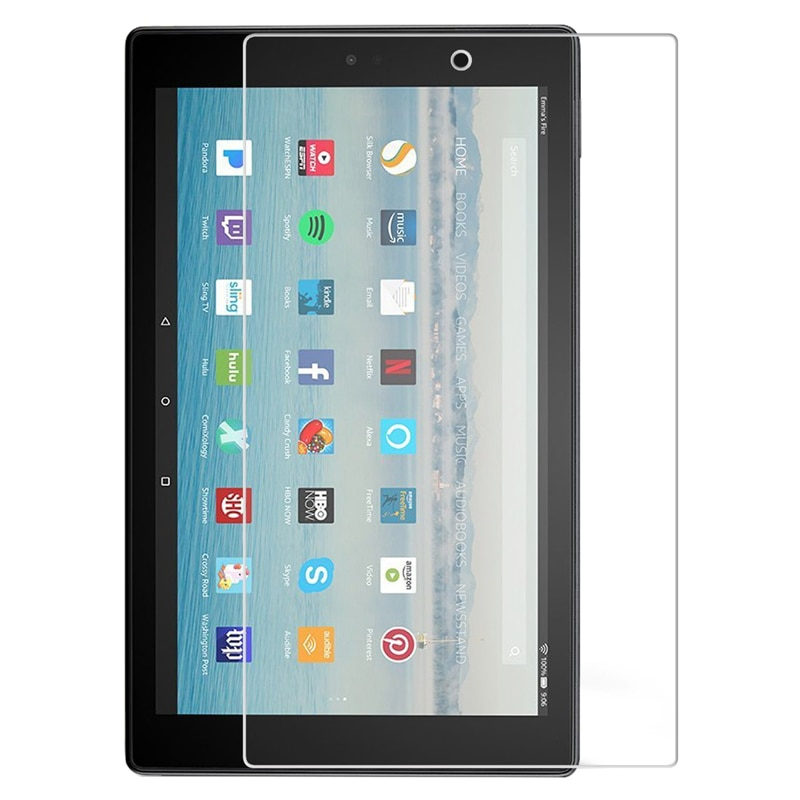 Tempered Glass Screen Protector for Amazon Kindle Fire HD 10 8 2021 2020 2019 2017 2015 HD10 Plus Tablet Protective Glass Film