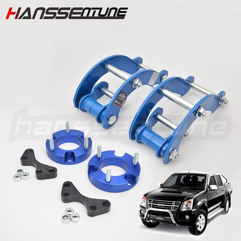 4x4 accesorios para coche 32mm Extended 2 pulgadas hoja trasera g-grilletes levantar hacia arriba espaciador delantero y Kits traseros para el nuevo d-max/Colorado 2012 +