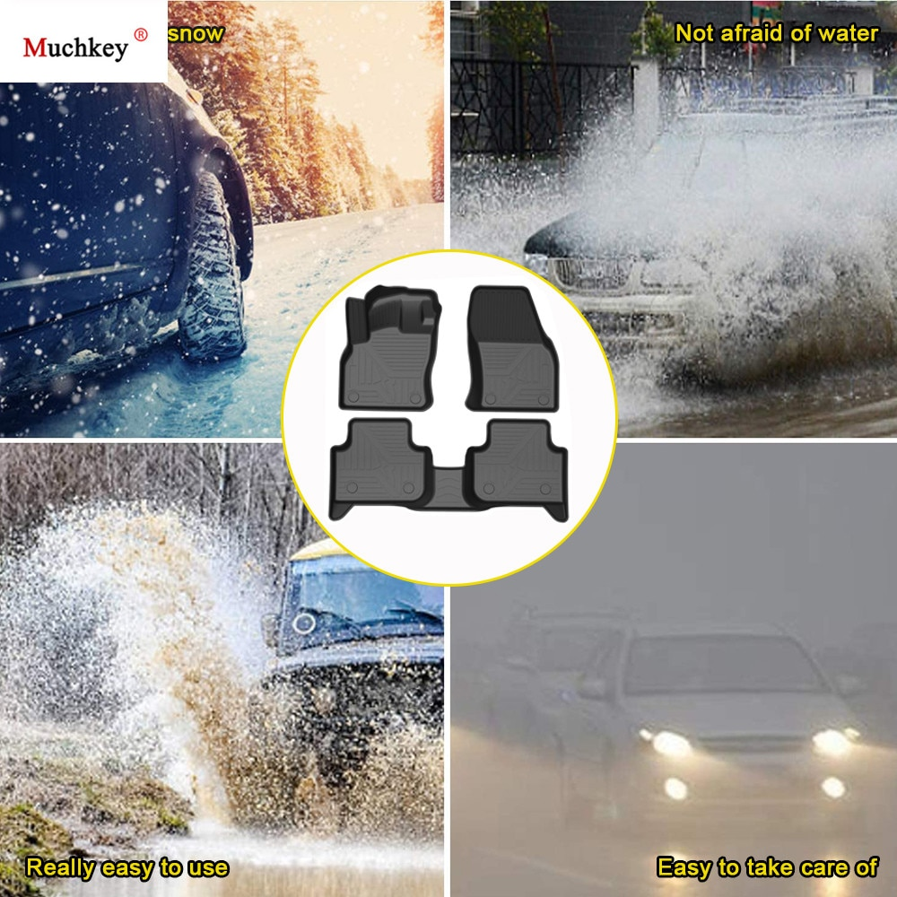 TPE Car Floor Mats For AUDI Q3 2019-2020 Waterproof Foot Pad Rubber Carpets Auto Floor Liner Automobile Interior Accessories enlarge