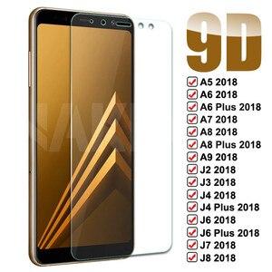 9D закаленное стекло для Samsung Galaxy A5 A7 A9 J2 J3 J7 J8 2018 A6 A8 J4 J6 Plus 2018 защита для экрана стеклянная пленка чехол