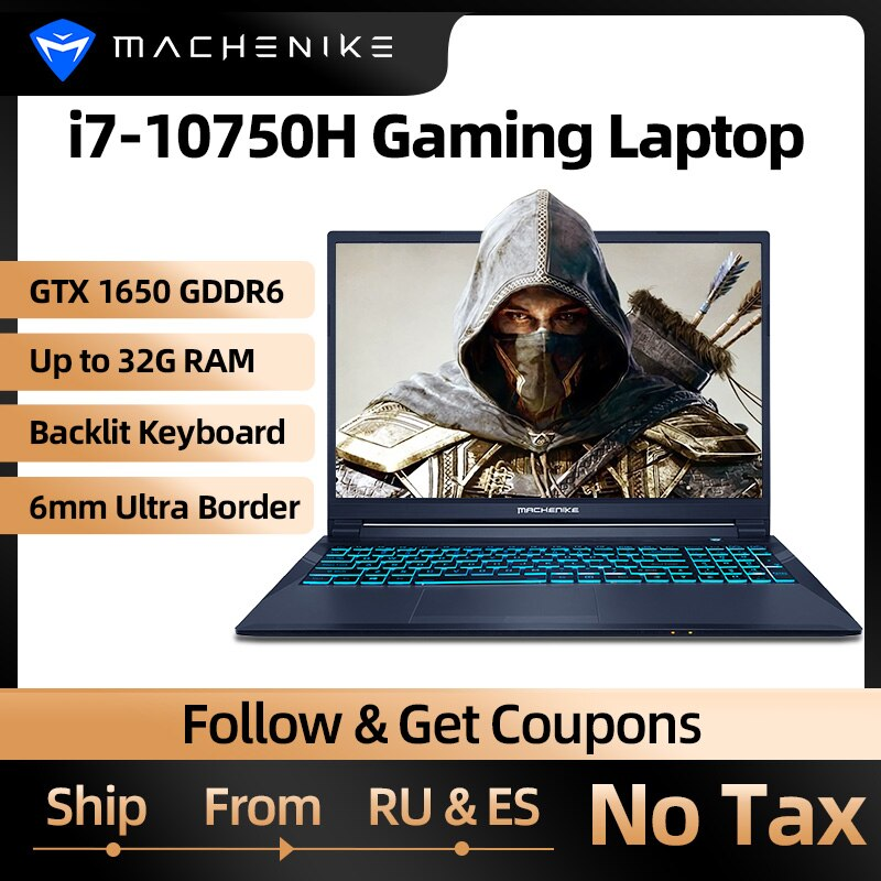 Machenike T90 T58 Gaming Laptop intel i7 10th Gen 15.6 FHD Laptop GTX1650 Computer Laptops 16G RAM 5