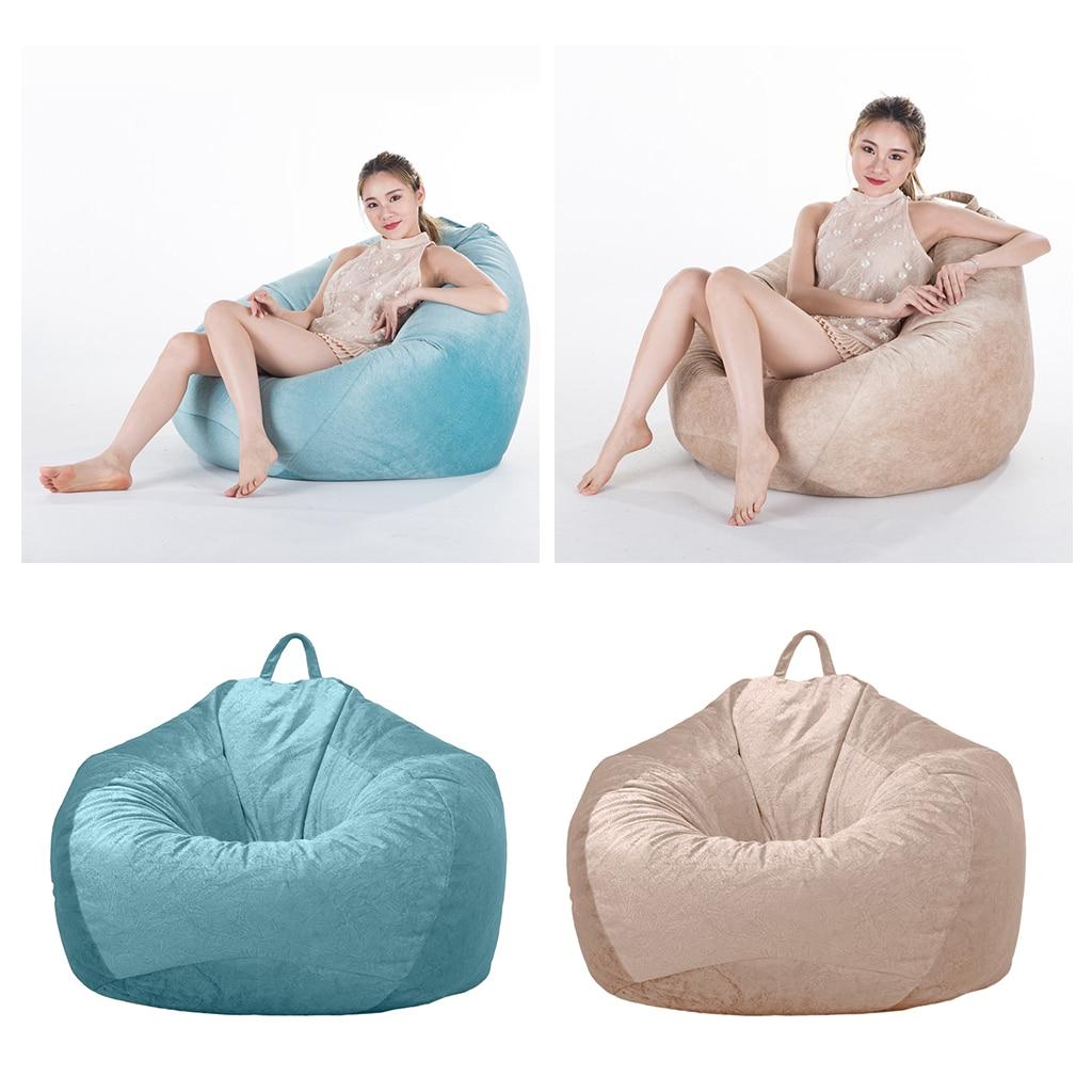 2 fundas para sillas de frijoles de tamaño adulto/adolescente, fundas para sofá para niños, almacenamiento de animales de peluche, 2 colores para jugar al aire libre
