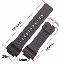 Bracelets de montre de bracelet de bracelet en caoutchouc de Silicone pour casio AQ-S810W/AEQ-110W/bracelet de montre de résine de W-735 montre de bracelet de 18mm
