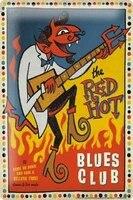 Plaque metallique de decoration murale retro  signe en etain  guitare bleue de cinema  decoration de maison