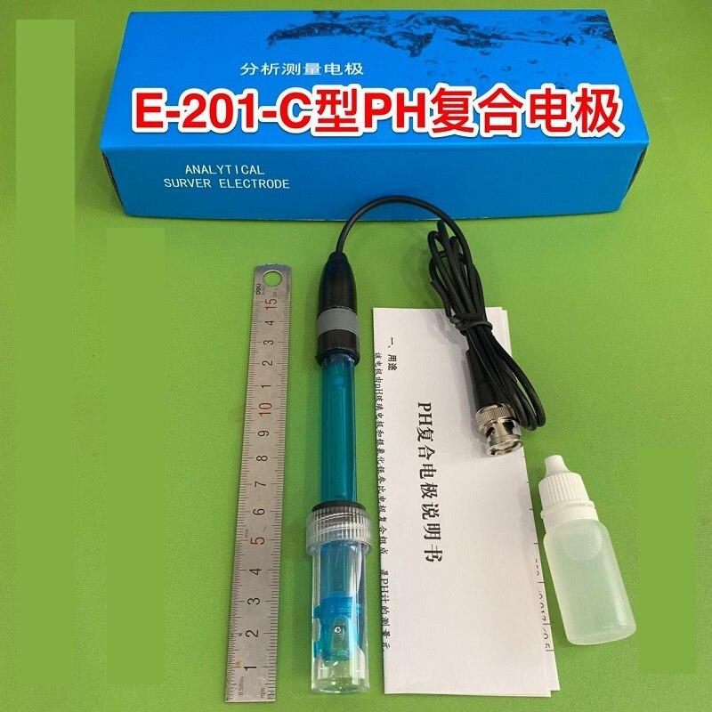 Electrodo compuesto de PH E201-C-9, sonda de pH recargable con carcasa de plástico