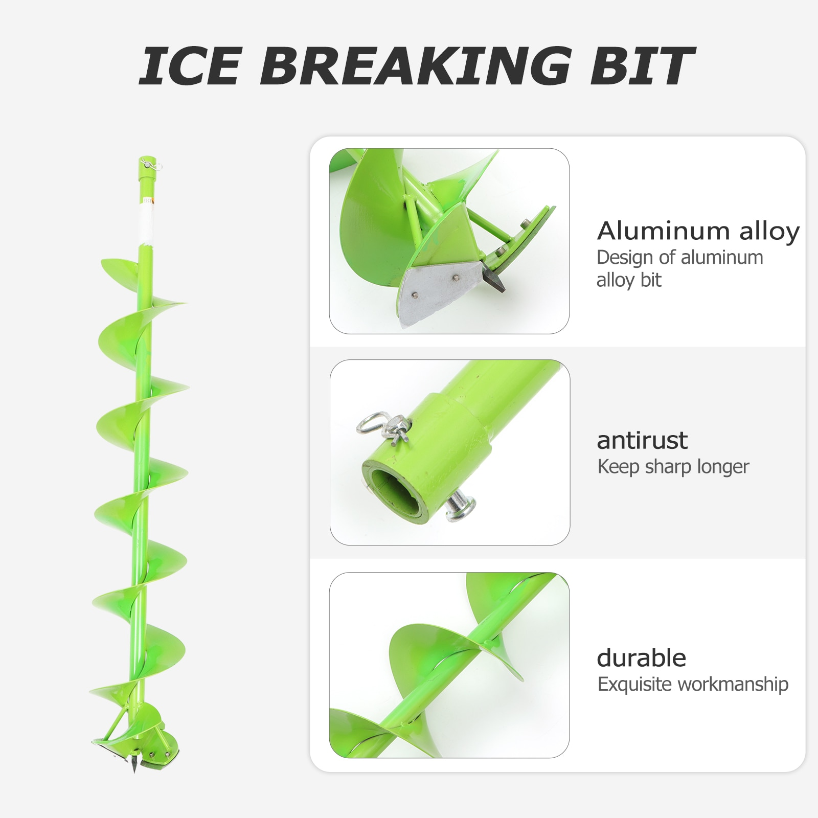 Universal Winter Ice Fishing Ice Breaking Auger Aluminum Alloy Drill Bit 15cm Serrated Ice Drill Bit Fishing Accessories pesca enlarge