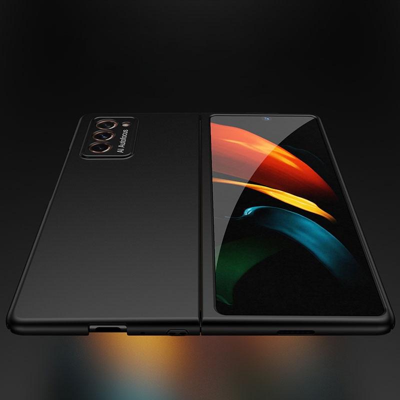 Luxo ultra fino híbrido negócios flip caso de telefone para samsung galaxy z fold2 fosco duro pc pára-choques capa para galaxy z fold 2 caso