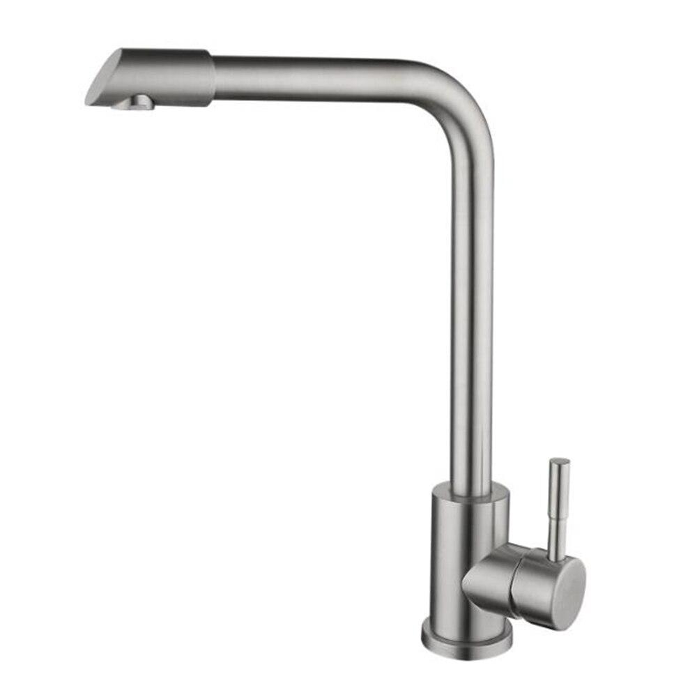 حنفية خلاط لحوض المطبخ من الفولاذ المقاوم للصدأ ، حنفية حمام بمقبض واحد ، 304
