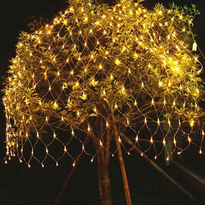 Guirnalda De Luces LED navideñas Para Exterior, decoración De Año Nuevo, 4x6m,...