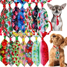 50pcs Small Dog Tie  Pet Supplies Dog Bow Tie Samll Dog Cat Bowtie Neckties Holiday Pet Dog Cat Pupp