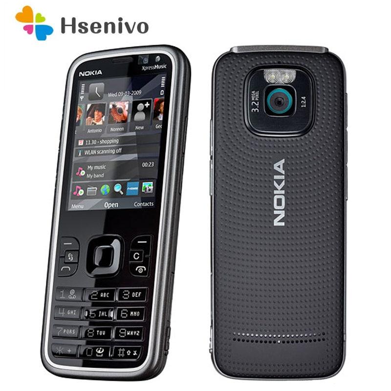 Восстановленный Оригинальный сотовый телефон Nokia 5630 XpressMusic, разблокированный, 5630 дюйма, GSM 2G/3G, 3 Мп, 2,2 ОЗУ, 128 мАч