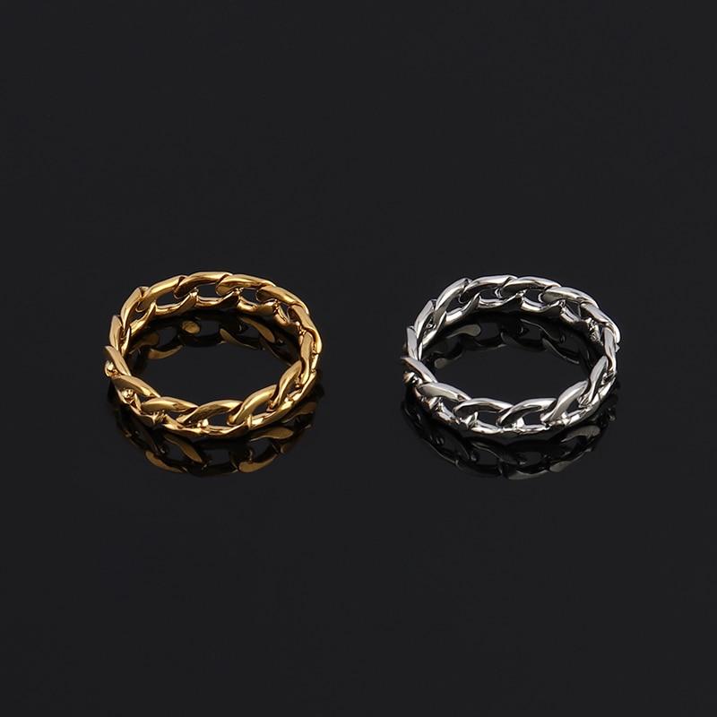 Женские кольца, кольца золотого цвета для женщин, кольца из нержавеющей стали, женские кольца на цепочке, кольцо на цепочке для женщин, Подарочные ювелирные изделия из нержавеющей стали Кольца      АлиЭкспресс