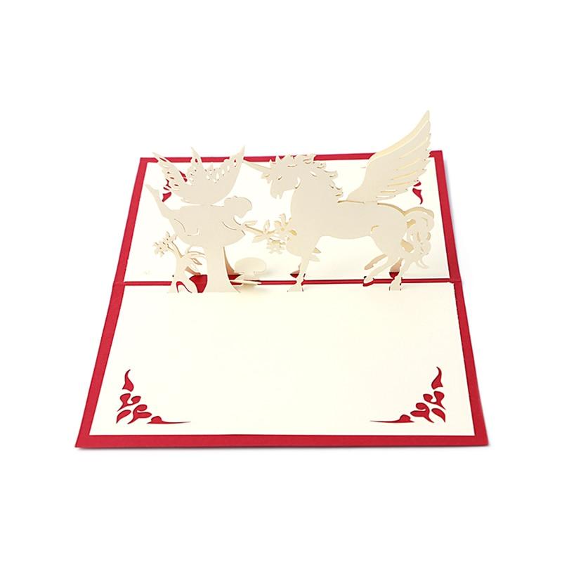 3D Pop Up tarjeta de felicitación hecha a mano Feliz Cumpleaños feliz Navidad tarjeta