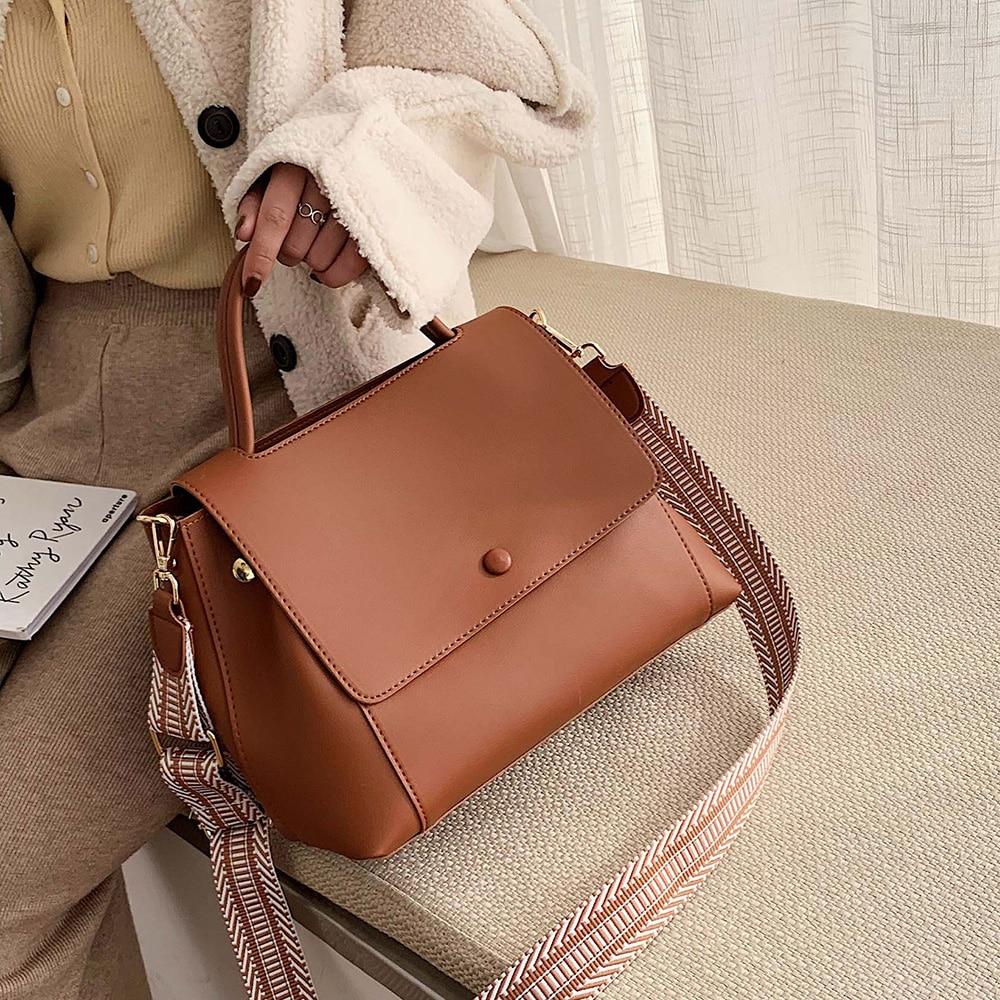 Solid Color Large Capacity Handbags For Women 2020 Female Shoulder Bag Retro Daily Totes Lady Elegant Handbags Hand Bag