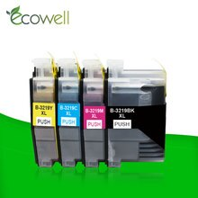 Ecowell 1 Set LC3219 Inkt Cartridge LC3219XL LC3217 Compatibel Voor Brother MFC-J5330DW MFC-J5335DW MFC-J5730DW MFC-J5930DW Printe