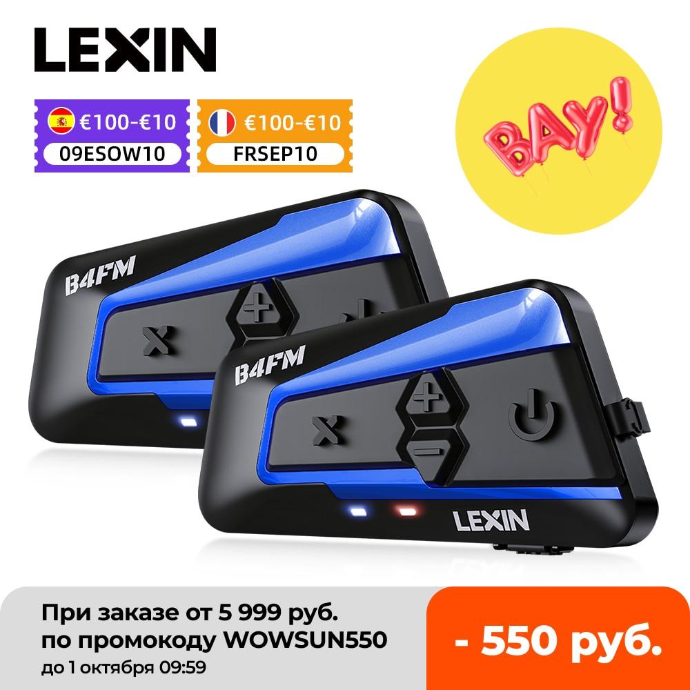 ليكسين 2 قطعة B4FM PRO Bluetooth5.0 خوذة للدراجات النارية انتركم سماعات نوع-C ، 10 راكبي الاتصالات اللاسلكية مشاركة الموسيقى موتو