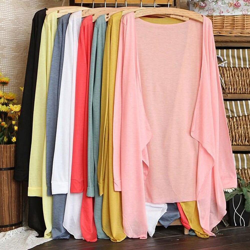 Cárdigan largo y delgado de verano, estilo casual, a la moda, para mujer, ropa de protección solar, Tops, cobertura, envío gratuito