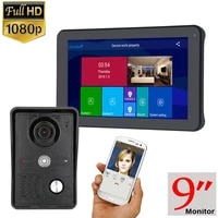 1080p 9 inch wirelesswifi smart ip video door phone doorbell intercom system with 3 night vision monitor 2 camera