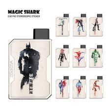 Чехол-наклейка Magic Shark Anvengers Marvel Spider Man Супермен Капитан Америка Железный человек Бэтмен пленка для Voopoo Drag Nano