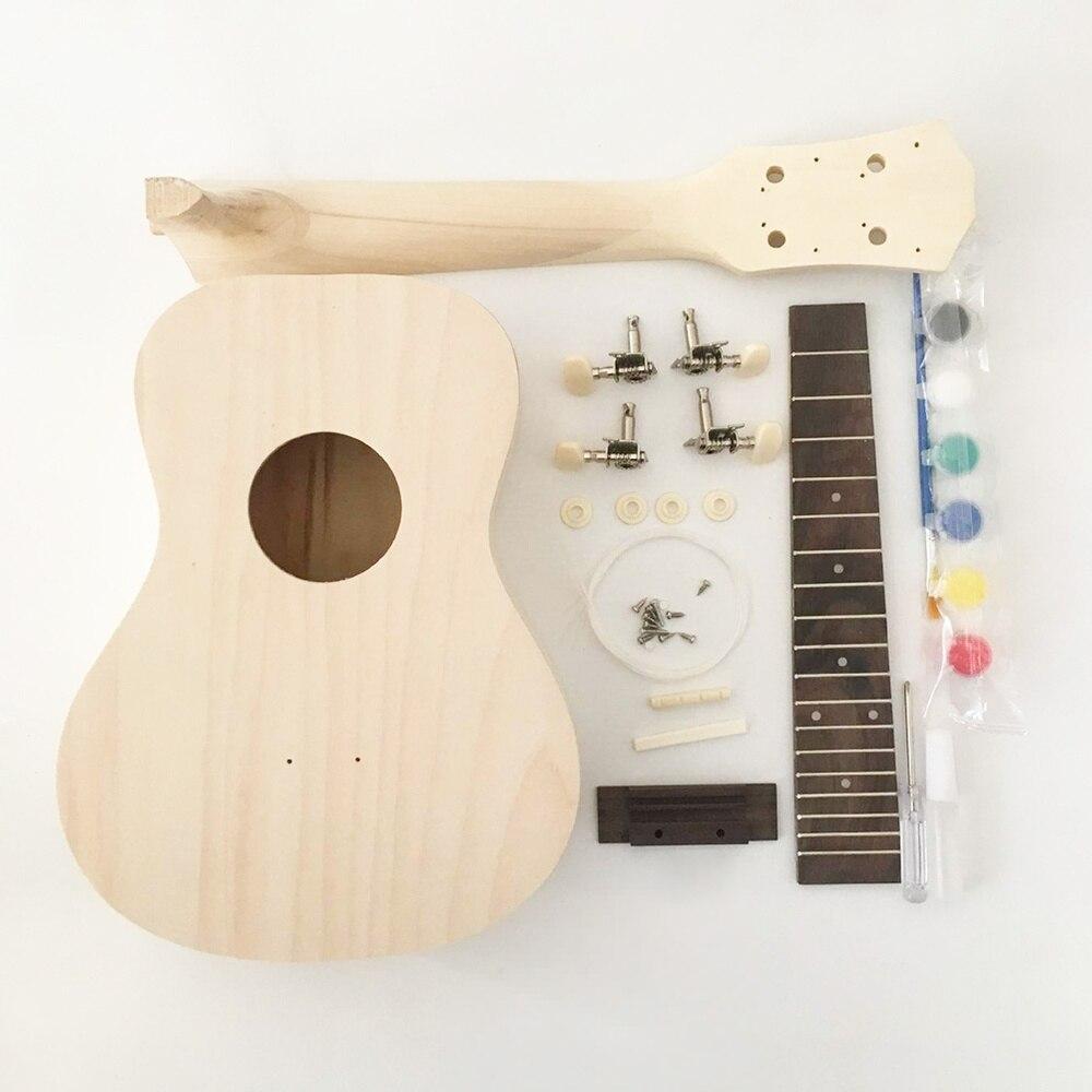 Zoll Ukulele DIY Kit Spaß Und Einfache Hawaii Gitarre Kit