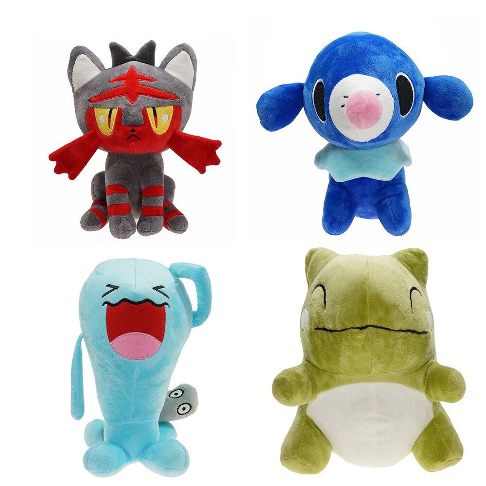 Плюшевые игрушки Pokemon 27 см, плюшевые игрушки Litten Popplio, хобби, мягкие набивные животные, плюшевые игрушки для детей, рождественский подарок