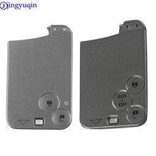 Jingyuqin-boîte pour cartes télécommande intelligente de voiture, boîtier de protection, 2/3 boutons de remplacement, pour Renault Laguna, Espace