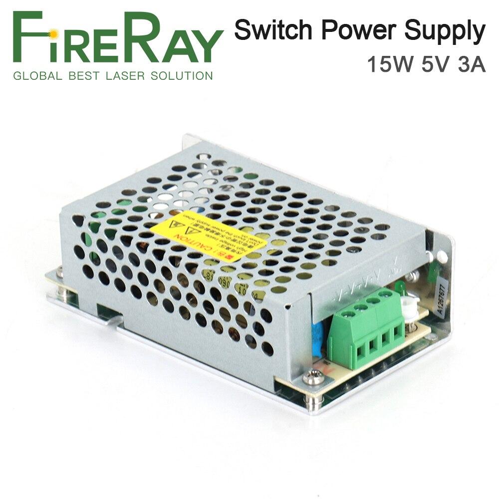Fireray HF15W-S-5 التبديل امدادات الطاقة DC5V 3A 15 واط للتحكم في آلة وسم الليزر