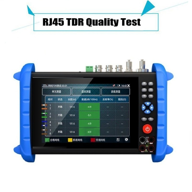 7 Inch HD Monitor 4K 8MP IP/CVBS/ TVI / CVI / AHD Wifi HDMI Multimeter Projection PTZ ONVIF 12V24V48V POE Professional Test Tool enlarge