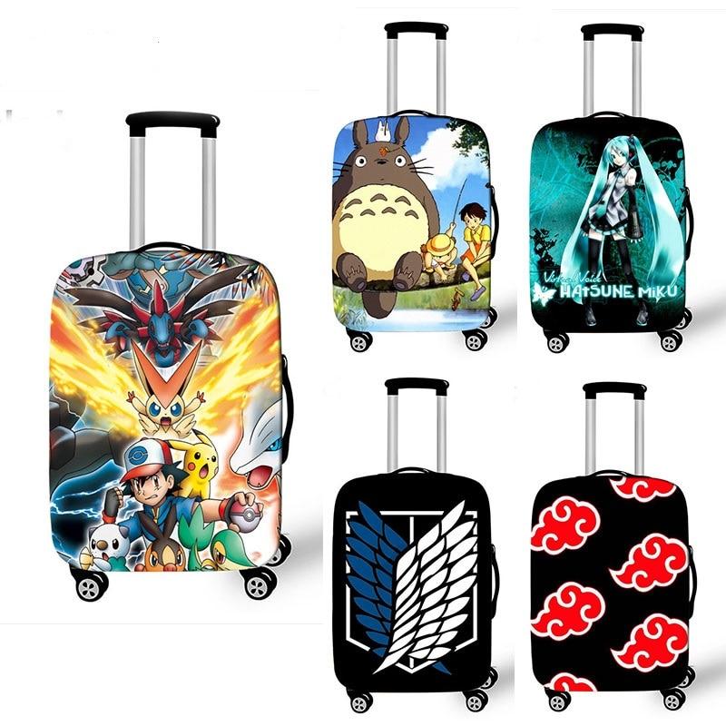 Acessórios de Viagem Mala de Proteção Capa de Bagagem para 18-32 Anime Japonês Totoro Polegada Meninas Meninos Capa Elástica Trole Bolsa
