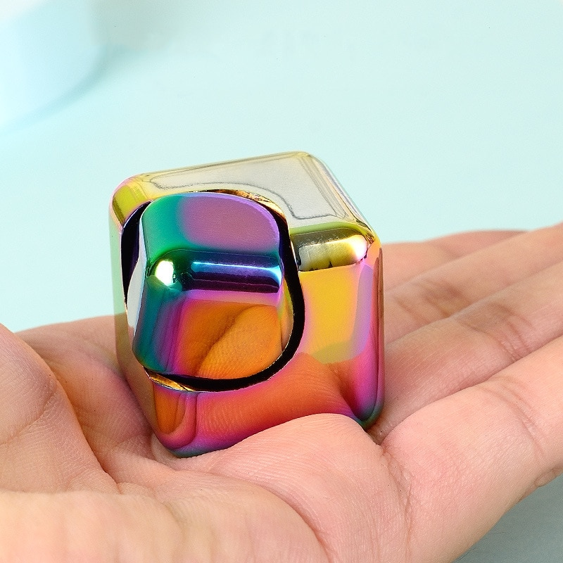 Colorful Spinning Fidget Spinner Stress Relief Toys Metal Hand Spinner Silent Top Finger Spinner Men Women enlarge