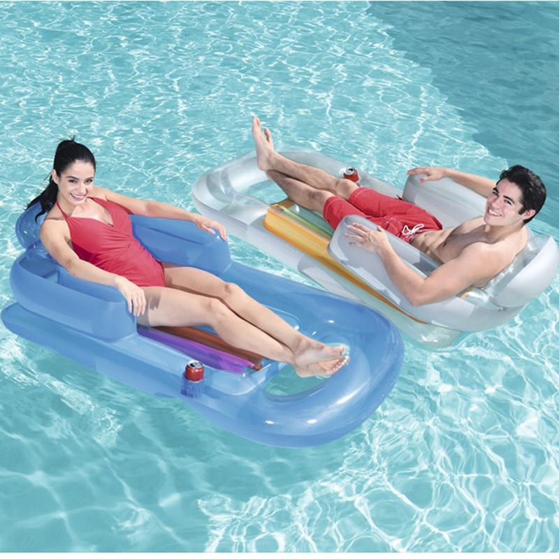واحد نفخ تعويم صف 157x89 سنتيمتر المنزل حمام سباحة المياه صالة كرسي الشاطئ مرتبة هوائية سرير عائم للكبار