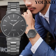 Relógio de pulso de quartzo de aço inoxidável de quartzo masculino banda de quartzo newv pulseira relógios de pulso analógico moda masculina