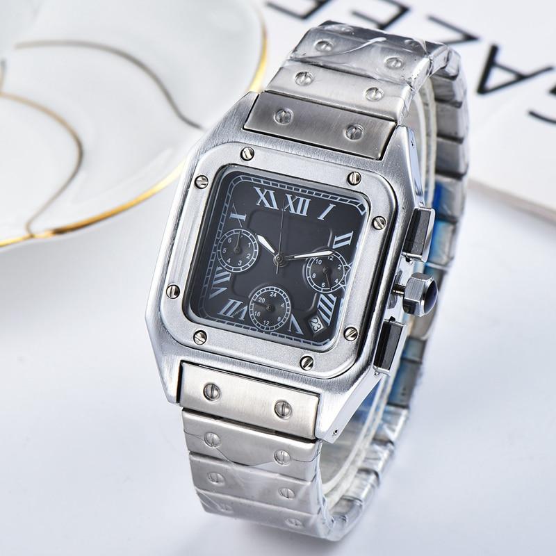 Top Brand Square Watch Men Classic Vintage Men Quartz Watch Stainless steel dial Luxury Clock Montre Homme enlarge