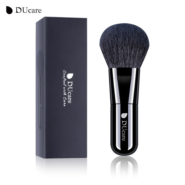 DUcare 1pcs Professional Foundation Brush Black Makeup Brush Powder Face Brush with Box Make up Brushes Beauty Essential Tools