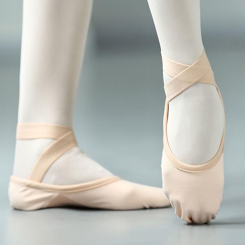 Балетки женские эластичные с повязкой, профессиональные туфли, эластичные сетчатые балетки, танцевальные туфли-лодочки, балетки на плоской...