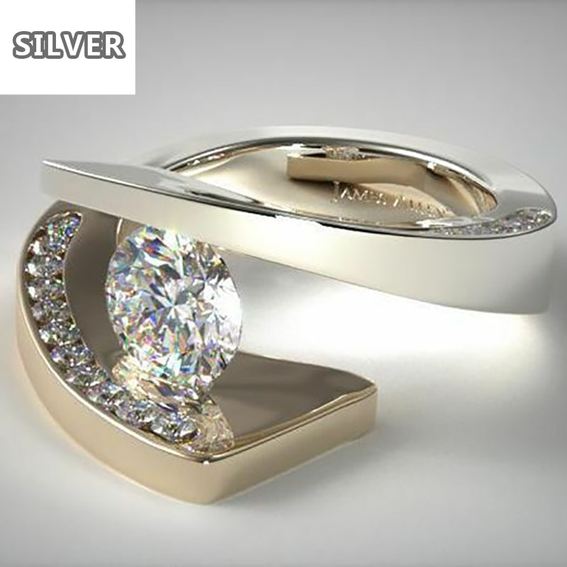 Anillos De Color dorado De 18K para mujer, joyería De lujo, anillo...