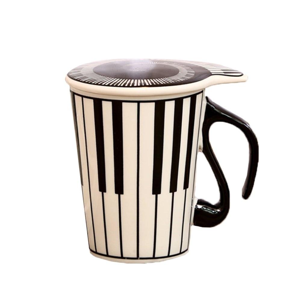 Пара музыкальных узоров, керамическая чашка, креативная керамическая музыкальная чашка, музыкальная чашка, чашка для воды, пара клавиатур, ...