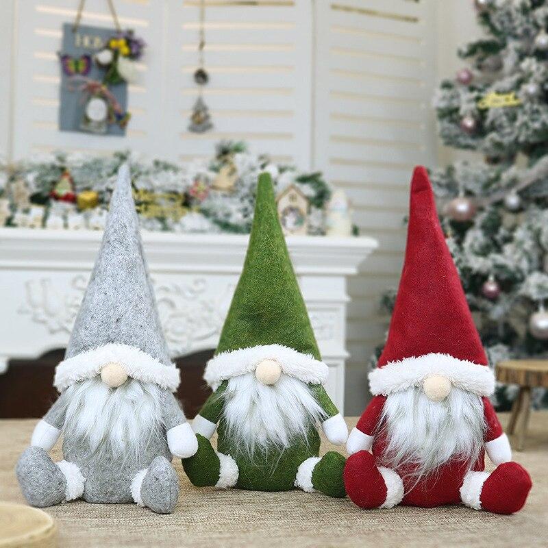 Natal sem rosto gnome santa árvore de natal pendurado decoração ornamento de natal boneca brinquedo presente dc120