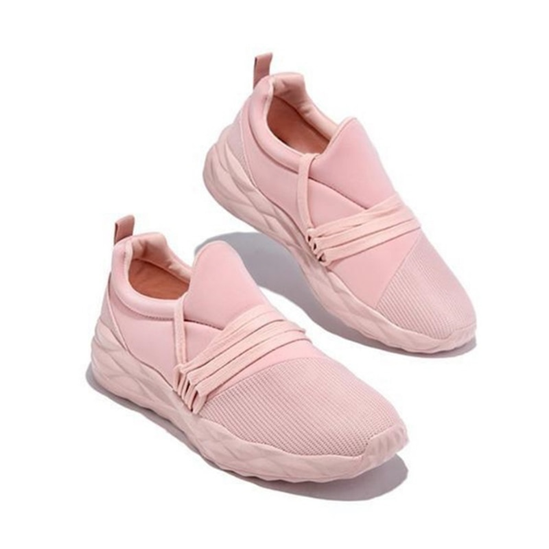 JIANBUDAN New Flat Sneakers Women's Casual Comfortable Outdoor Shoes Breathable Flat shoes Female Chunky Sneaker 35-43 size