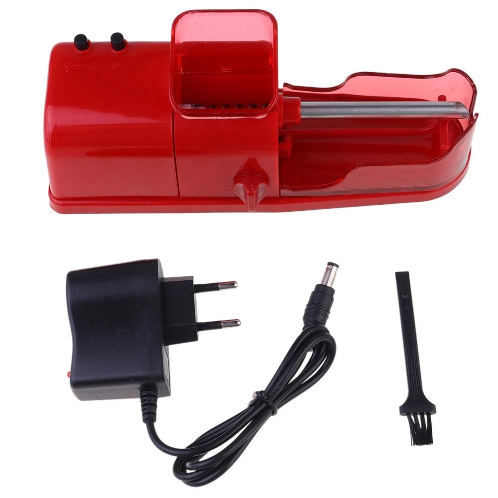 1 ud. Máquina automática para liar cigarrillos eléctricos DIY tabaco fabricante de rodillos con tubo vacío-enchufe estadounidense/europeo (negro/rojo/azul)
