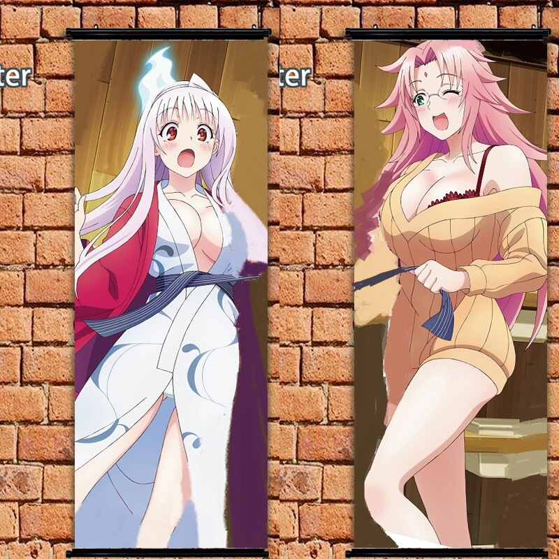 Yuragi-sou no Yuuna-san Arahabaki Nonko аниме тканевый плакат прокрутка стены 105x40cm