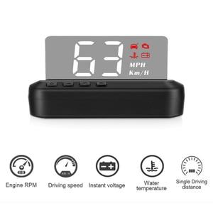 OBD2 HUD Mirror Car Head Up Display C100 HUD Digital Speed Projector Security Alarm Water Temp RPM KMH MPH Speedometer