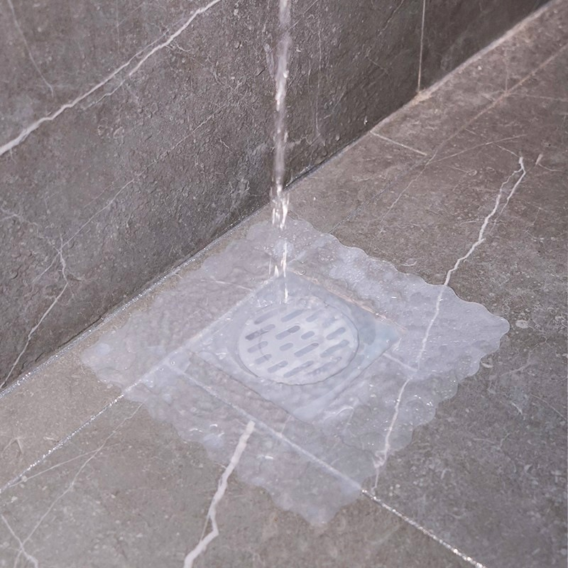 2pcs Silicone Floor Drain Deodorant Pad Toilet Floor Drain Pad Bathroom Anti Odor Sewer Deodorant Floor Drain Cover Water Stoppe