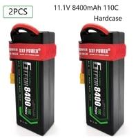 GTFDR 2PCS Lipo Battery 3S 11.1V 8400mah 6500mah 5200mAh 110C 100C 50C Hardcase for HPI HSP 1/8 1/10 Buggy RC Car Truck