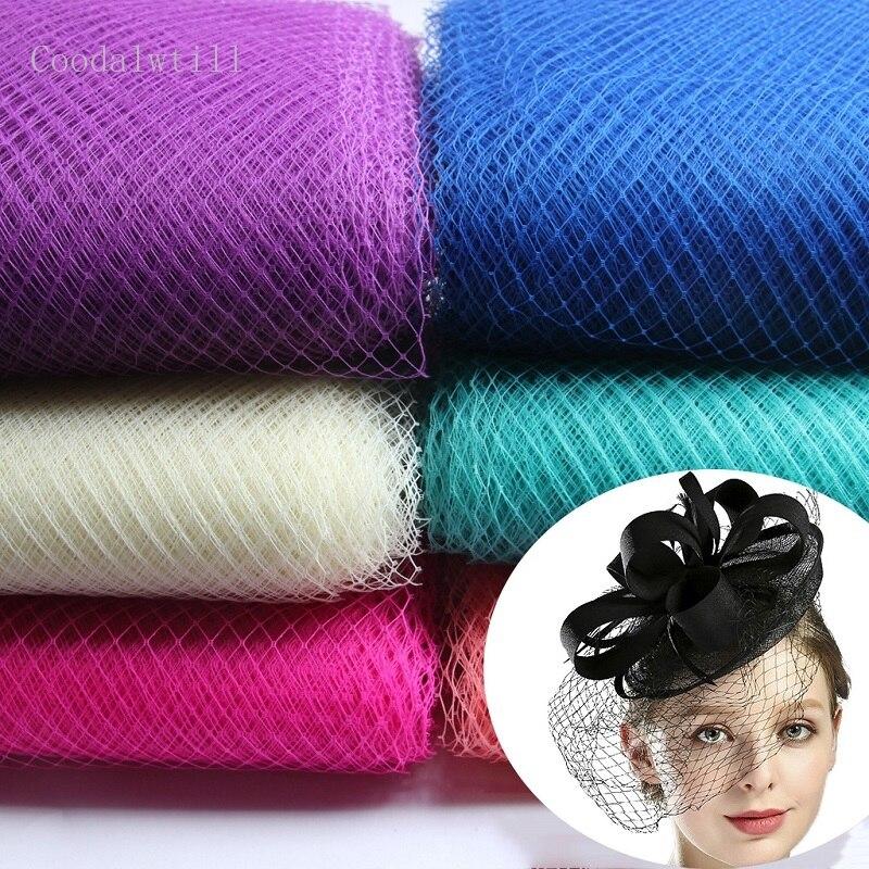 25cm * 1m Hochzeit Mode Netting Russische Verschleierung Birdcage Schleier DIY Hut Trimmen Haar Zubehör Tüll Kleid Stoff